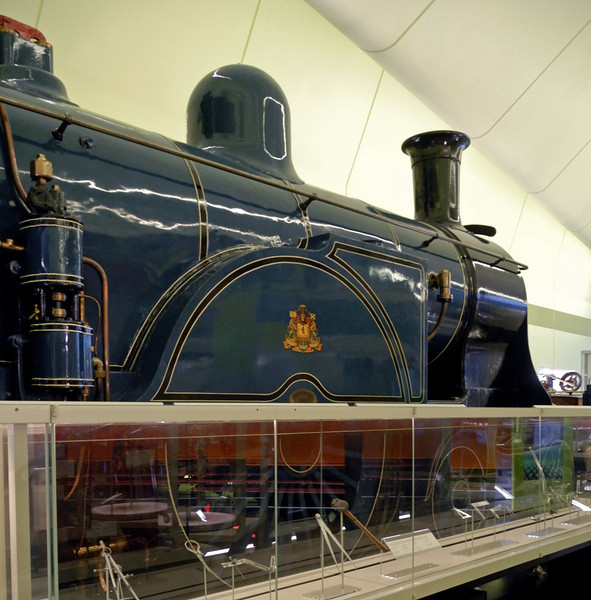 Caledonian Rly No 123, Riverside Museum, Glasgow, Sat 19 November 2011 2.  The loco has 7ft driving wheels.