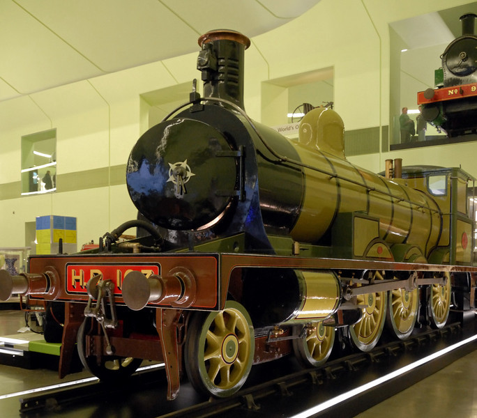 Highland Rly No 103, Riverside Museum, Glasgow, Sat 19 November 2011 1.  No 103 was built in Glasgow by Sharp, Stewart in 1894.  It was Britain's very first ten-wheeler, a type that was to be very widely used in the 20th century