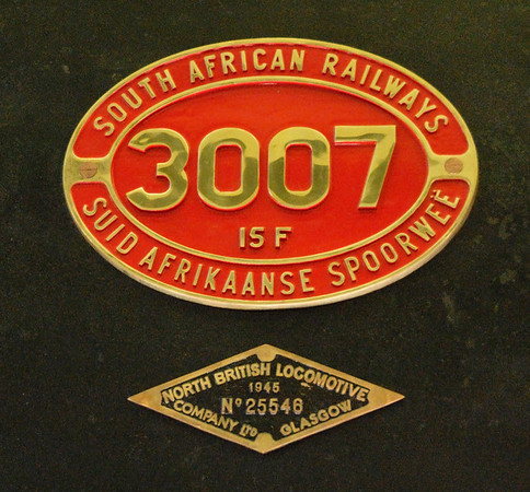 South African Rlys No 3007, Riverside Museum, Glasgow, Sat 19 November 2011 2.