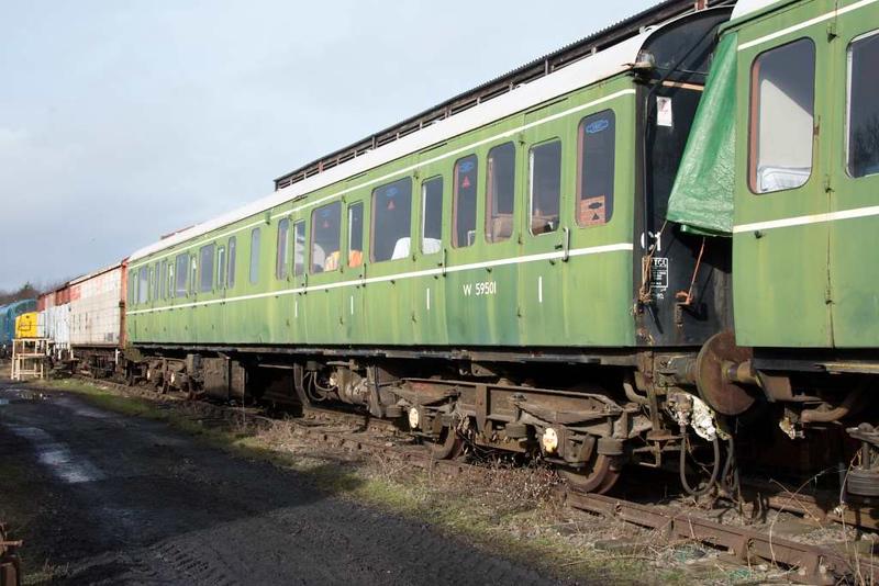 W 59501, Ruddington, Sun 18 February 2018.  Class 117 TCL.