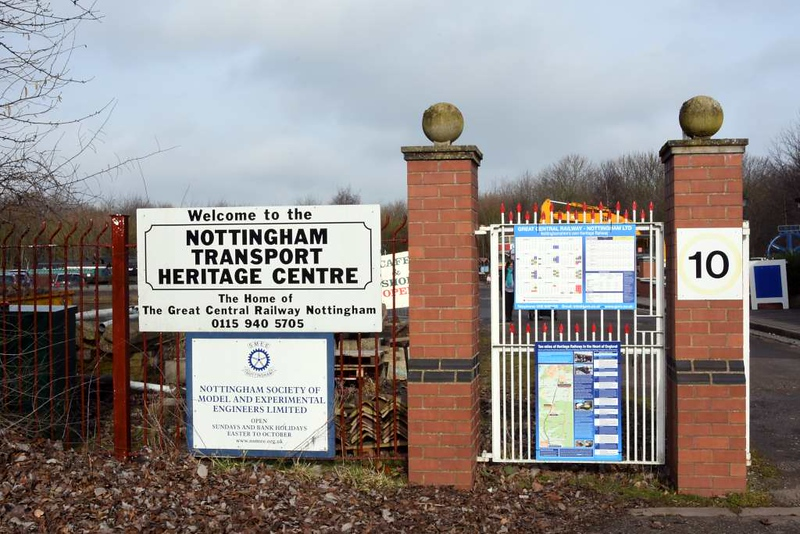 Welcome to the Nottingham Transport Heritage Centre!  Ruddington, Sun 18 February 2018.  The centre is south of Nottingham in Rushcliffe Country Park, Ruddington, off the A60.