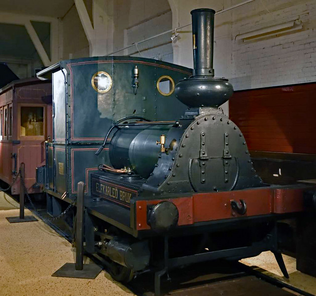Elfkarleo Bruk 0-4-0WT No 1, Swedish Railway Museum, Gavle, 25 July 2015 2.  Built in Loughborough by Henry Hughes, in 1873 according to the museum.
