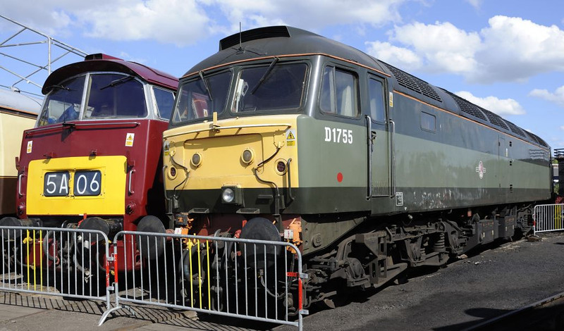 D1015 Western Champion & D1755 (47773), Tyseley, Sun 26 June 2011