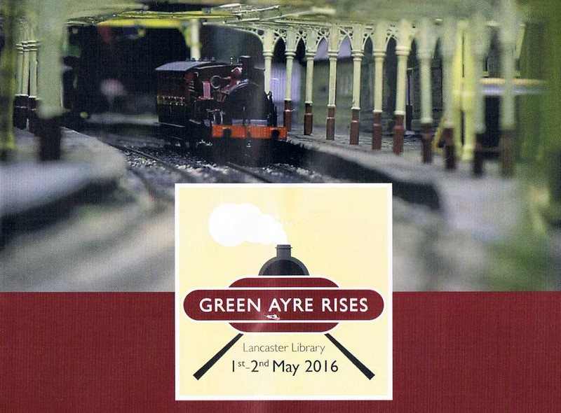 Green Ayre Rises, Lancaster, 2 May 2016.  This exhibition was held to mark the 50th anniversary of the closure of Green Ayre station on the Morecambe - Wennington - Skipton line.  The highlight was a gauge 0 model of the station which is being built by Wakefield Railway Modellers' Society.  It depicts the station in 1923, but is not yet complete.