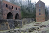 Blast furnaces and engine houses, Blists Hill, Ironbridge Gorge Museum, 13 December 2012 1.  These three blast funaces and two engine houses were built on this site in the 19th century.