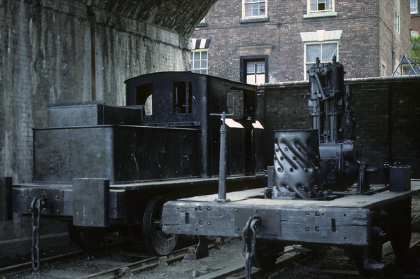 Sentinel rebuilds, Coalbrookdale, Ironbridge Gorge Museum, June 1983.  As can be seen the locos have not moved in 30 years.  Photo by Les Tindall.