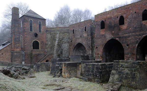 Blast furnaces and engine houses, Blists Hill, Ironbridge Gorge Museum, 13 December 2012 2.