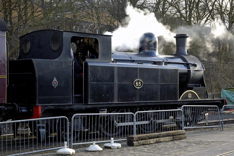 Taff Vale Railway 0-6-2T No 85, Ingow, 20 February 2005 - 1542 1.   Neilson Reid 5408 / 1899.