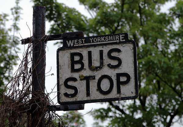 Old West Yorkshire bus stop, Haworth, Sat 20 May 2006