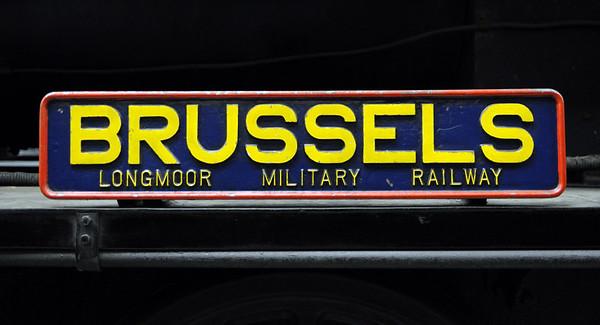 Longmoor Military Rly No 118 Brussels, Oxenhope, Fri 10 February 2012.  Hudswell Clarke 0-6-0ST 1782 / 1945.