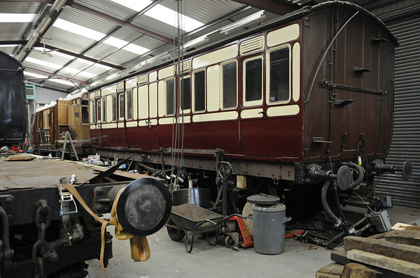 Vintage Carriages Trust workshop, Ingrow, Fri 10 February 2012.