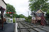 Tenterden Town station, Fri 8 June 2012 1: Looking west towards Bodiam.  Many of the buildings and structures on the KESR have been imported from elsewhere or built new, including these at Tenterden..