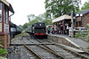 Tenterden Town station, Fri 8 June 2012 2 - 1031.  1638 waits to leave with the 1040 to Bodiam.