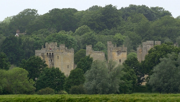 Bodiam castle from the KESR near Bodiam, Fri 8 June 2012