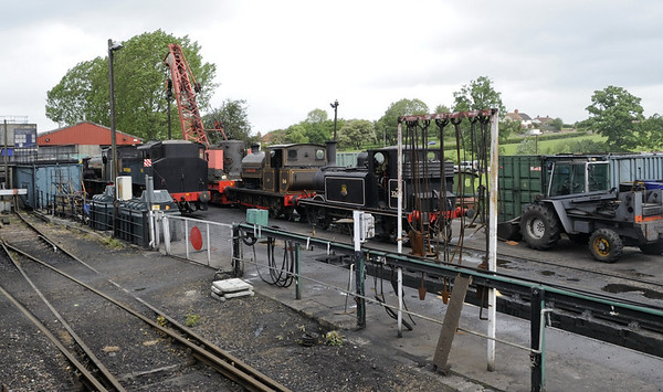 Loco shed yard, Rolvenden, Fri 8 June 2012