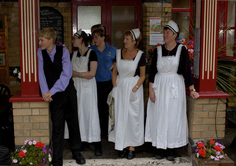 Victorian costumes, Haverthwaite, Tues 23 August 2005 2.