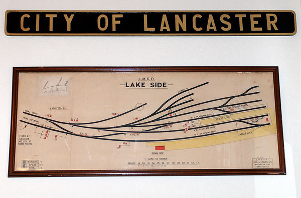 Lakeside track diagram, Haverthwaite, Sun 21 May 2006