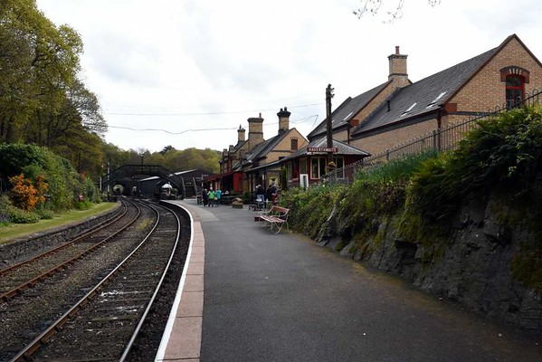 Haverthwaite station, Sat 29 April 2017 7. The new building is at right.