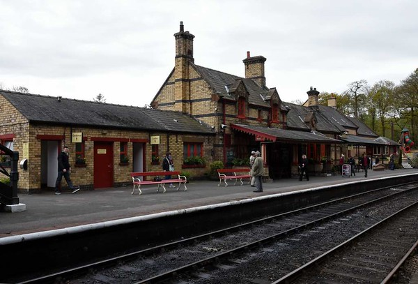 Haverthwaite station, Sat 29 April 2017 1.  The Furness Railway opened the Windermere Lakeside branch in 1869.  It was connected with the Furness's Carnforth - Barrow main line by a triangle, with lines from Leven and Plumpton Junctions which joined at Greenodd Junction. Haverthwaite was once half way along the branch, but is now the southern terminus.