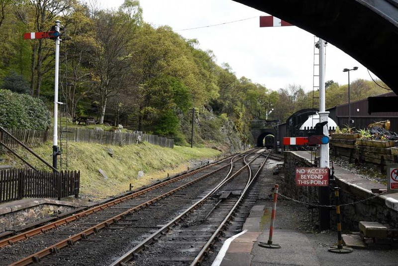 Haverthwaite station, Sat 29 April 2017 3. Looking towards Lakeside.