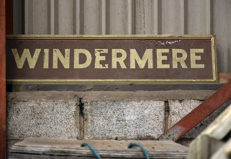 Windermere station sign, Haverthwaite, Sat 29 April 2017
