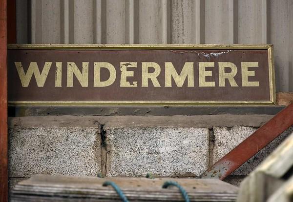 Windermere station sign, Haverthwaite, Sat 29 April 2017