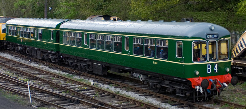 E56171 & 50416, Pentrefelin, 22 April 2007.  One of a very small class of 5 DMUs built by Wickham in 1957.