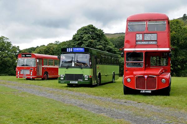 Bristol SJA 382K, Leyland B105 KPF & Routemaster JJD 446D, Glyndyfrdwy, Sat 27 August 2011.  Here are a few shots of a Crosville bus rally at Glyndyfrdwy.