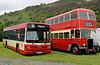 Leylands K853 MTJ & HTF 644B, Glyndyfrdwy, Sat 27 August 2011.