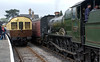 Autotrain & 7822 Foxcote Manor, Carrog, 22 April 2007 - 1507.  7822 waits to leave with the 1454 to Llangollen.