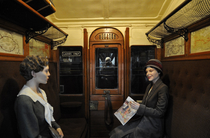 Metropolitan Rly carriage No 400, London Transport Museum, Covent Garden, Sun 1 April 2012 2.  Ladies' compartment as in the 1930s.