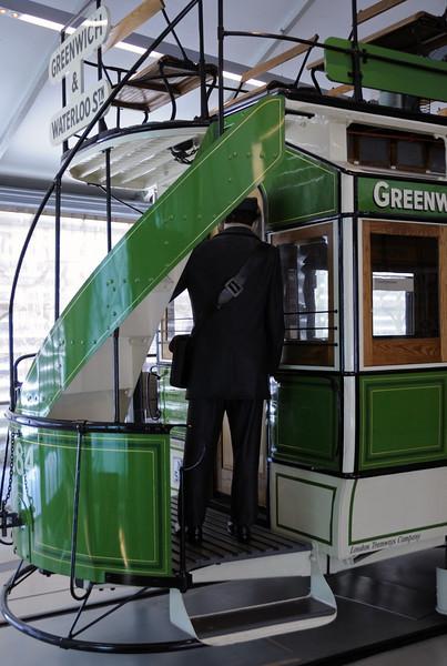 American-built 1882 London Tramways Co horse tram No 284, London Transport Museum, Covent Garden, Sun 1 April 2012 3.