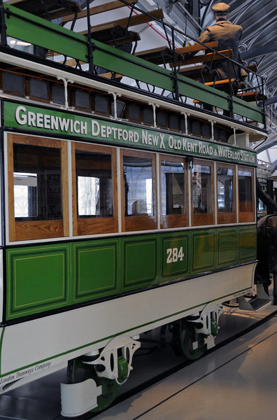 American-built 1882 London Tramways Co horse tram No 284, London Transport Museum, Covent Garden, Sun 1 April 2012 2.