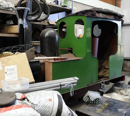 Unidentified miniature railway loco, Ropley, Sun 9 March 2014