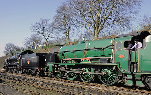 31806 & E850 Lord Nelson, Ropley, Sun 9 March 2014 - 1054.
