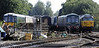 Dereham yard, Wed 28 August 2013.  Looking south, with W55009 (left), 08631, 51499, 51226 & 50026 Indomitable.