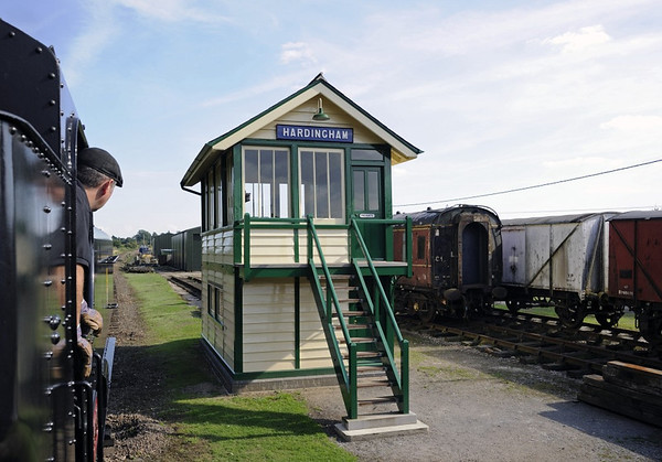Hardingham signalbox and yard, Wed 28 September 2013
