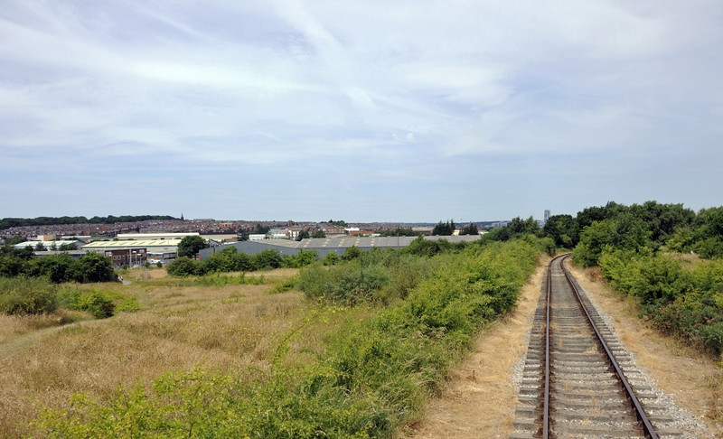 Looking north during the climb towards Middeton Park, Middleton Rly, Leeds, Sun 14 July 2013