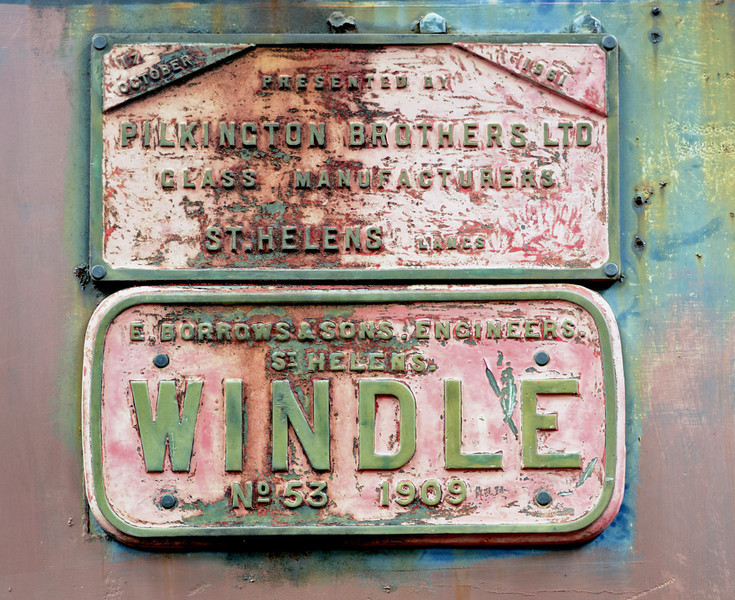 Windle, Preston Riversway, Wed 20 July 2011.  The upper plate records Windle's presentation to the Middleton in 1961 by Pilkington Glass.