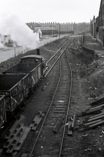 North Eastern Rly 1310, Balm Road branch, 15 April 1967 7. Passing Clayton's Moor End Works on the way to Moor Road.  Beza Road is at left.