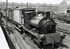 Bagnall 2702, 15 May 1966 3: Dartmouth yard   The Bagnall and brakevan stand in the yard of Clayton's Dartmouth works.  Behind them is North Eastern Rly 0-4-0T 1310, still with its National Coal Board markings.  Sentinel 54 and a steam crane can also be seen.  Dartmouth yard was the Middleton's headquarters until 1983.