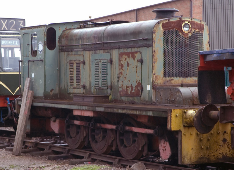 South Yorkshire Area No 20, Swanwick Junction, 24 June 2007    Hudswell Clarke diesel mechanical 0-6-0 D1121 / 1958