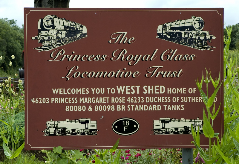 Welcome to the Princess Royal Class Locomotive Trust's west shed!   Swawick Junction, 24 June 2007.