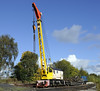 DRT 81340, Swanwick Junction, Sun 14 October 2012.  Taylor & Hubbard heavy duty diesel-electric crane.