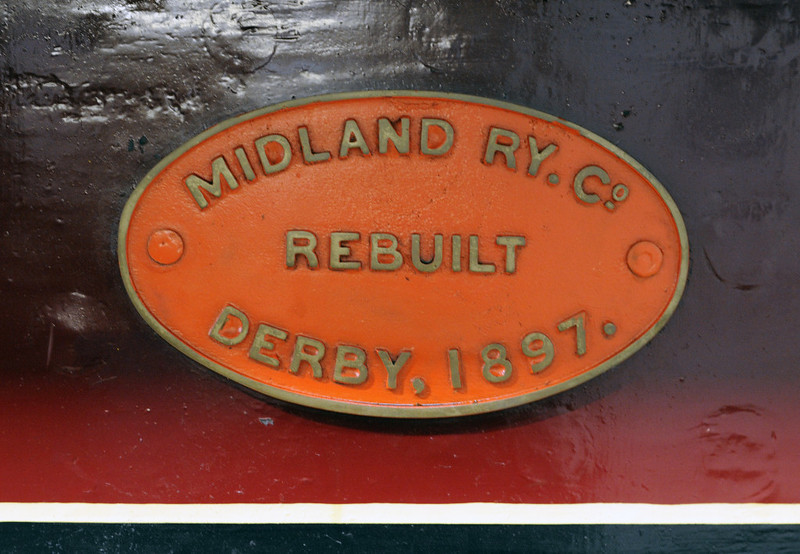 Midland Rly 2-4-0 No 158A, Swanwick Junction, Sun 14 October 2012 2.   ...and later rebuilt,