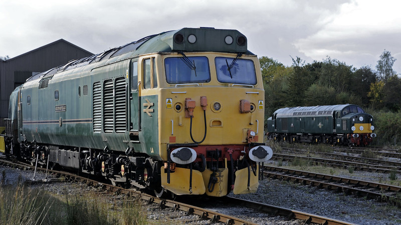 50007 Sir Edward Elgar & D212 Aureol, Swanwick Junction, Sun 14 October 2012