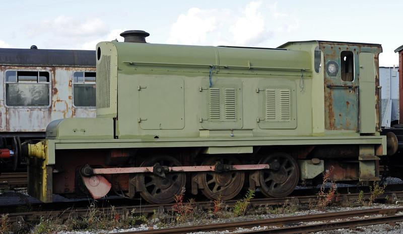 National Coal Board Hudswell Clarke 0-6-0DM D1114 / 1958, Swanwick Junction, Sun 14 October 2012