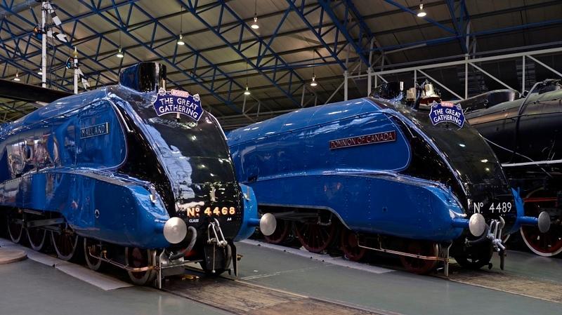 4468 [60022] Mallard & 4489 [60010] Dominion of Canada, National Railway Museum, York, 5 July 2013 1