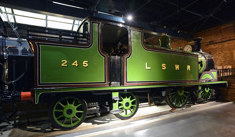 London & South Western Rly 0-4-4T No 245, National Rly Museum, York, Fri 31 January 2014 1.