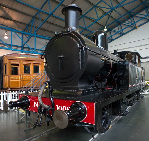 Lancashire & Yorkshire Rly 2-4-2T 1008, National Railway Museum, York, 17 July 2016 1.  Aspinall design, built at Horwich in 1889, the first of no fewer than 309.